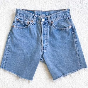 Vintage Levi's 501s Blue Wash Cutoff Shorts